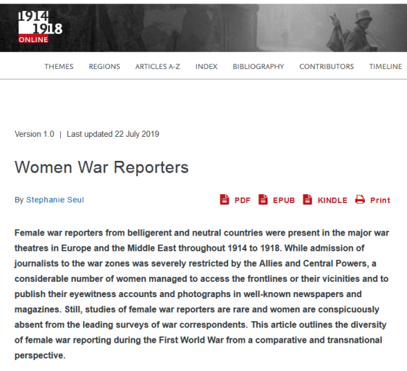 Screenshot_2019-08-14 Women War Reporters International Encyclopedia of the First World War (WW1)(1)